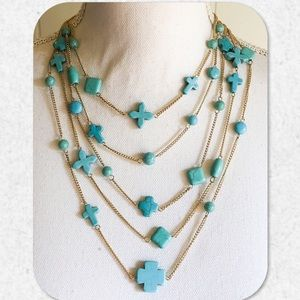 Jewelry - 🏆HP!🏆Multilayer Boho Turquoise Necklace